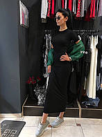 Длинное чёрное платье, фото 1