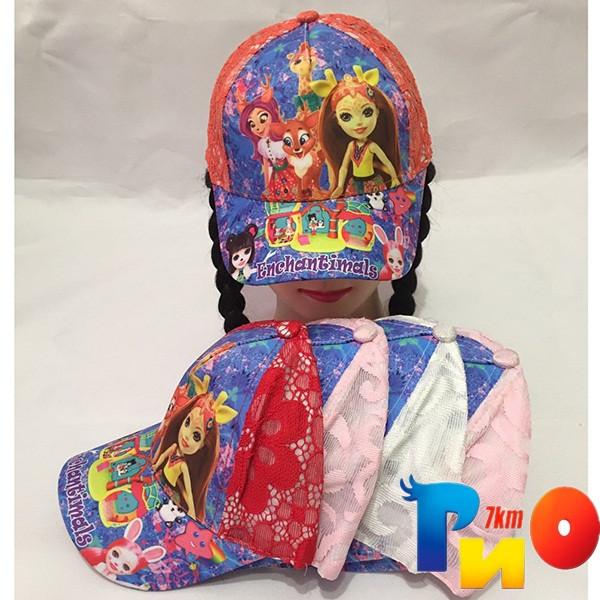 Детская  летняя кепка (100% cotton) для девочек р-р 52 (5 ед в уп) NA_9940