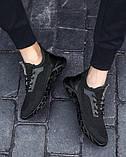 Чисто черные дышащие кроссовки на лето, фото 4