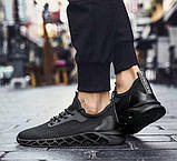 Чисто черные дышащие кроссовки на лето, фото 5