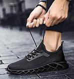 Чисто черные дышащие кроссовки на лето, фото 6