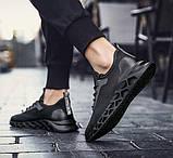 Чисто черные дышащие кроссовки на лето, фото 7