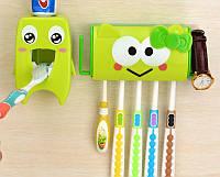 Підвісний дозатор зубної пасти + тримач для зубних щіток набір