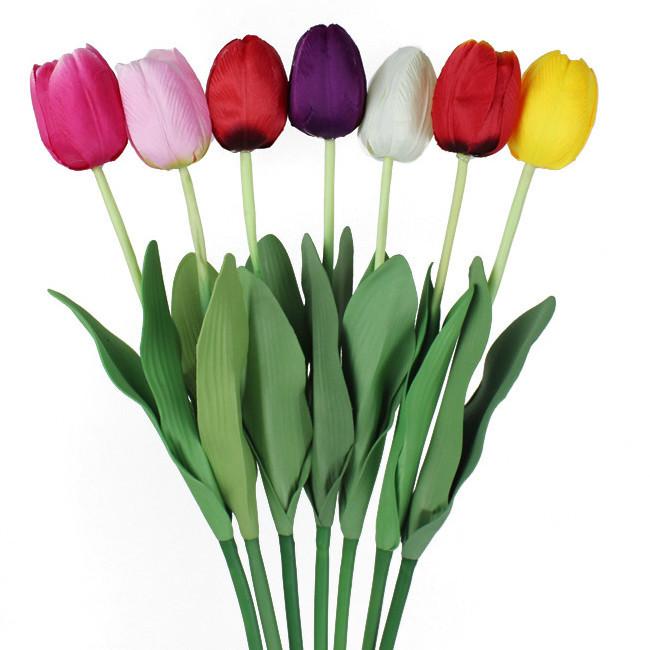 Тюльпан одинарный латексный лист 60 см (50 шт в уп.)