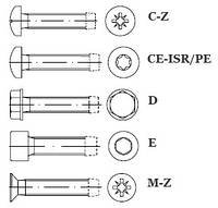 Винты резьбовыдавливающие Taptite DIN 7500 от М 3 до М 16