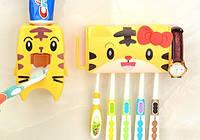 Подвесной дозатор для зубной пасты + держатель для зубных щеток набор