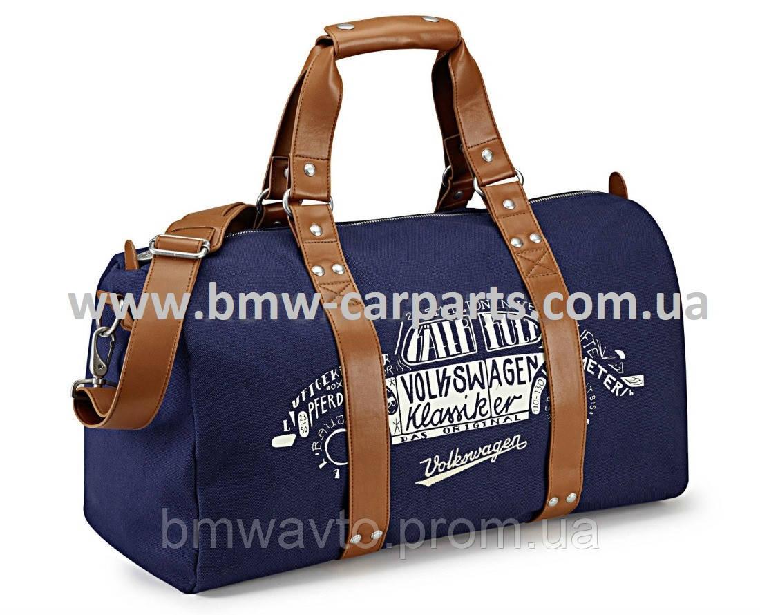 Дорожная сумка Volkswagen Classic Weekender Bag, Dark Blue/Brown