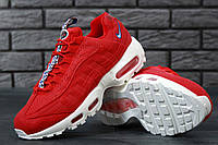 Кроссовки Nike Air Max 95 TT Red/White. Живое фото! Топ качество (Реплика ААА+)