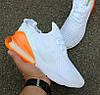 Мужские кроссовки Nike Air Max 270 'White Pack' Total Orange. Живое фото. Топ реплика