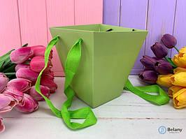 Складная флористическая коробка трапеция для цветов упаковка подарочная набор 12 шт