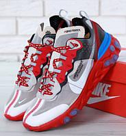 Мужские кроссовки Nike React Element 87 x Undercover. Живое фото. Топ реплика ААА+
