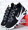 Мужские кроссовки Nike React Element 87 x Undercover Black White. Живое фото. Топ реплика ААА+