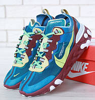 Мужские кроссовки Nike React Element 87 x Undercover Blue Maroon. Живое фото. Топ реплика ААА+