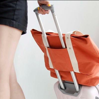 Сумка с отделением для обуви холст оранжевая 02016/02
