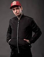 Куртка бомбер мужской EAST черная. Живое фото (весенняя куртка), фото 1