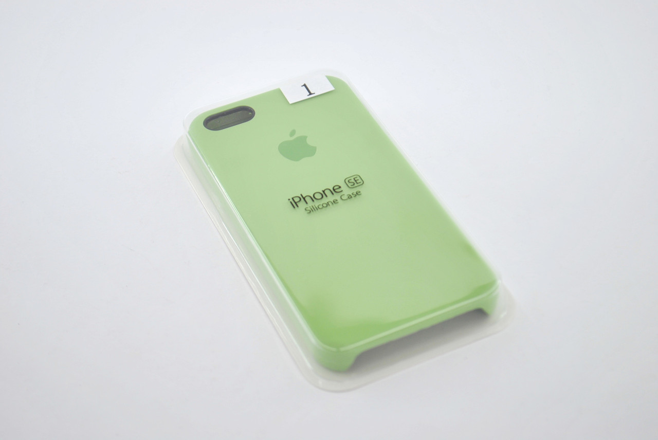 Чехол iPhone 5 /5s/SE Silicone Case original №1green