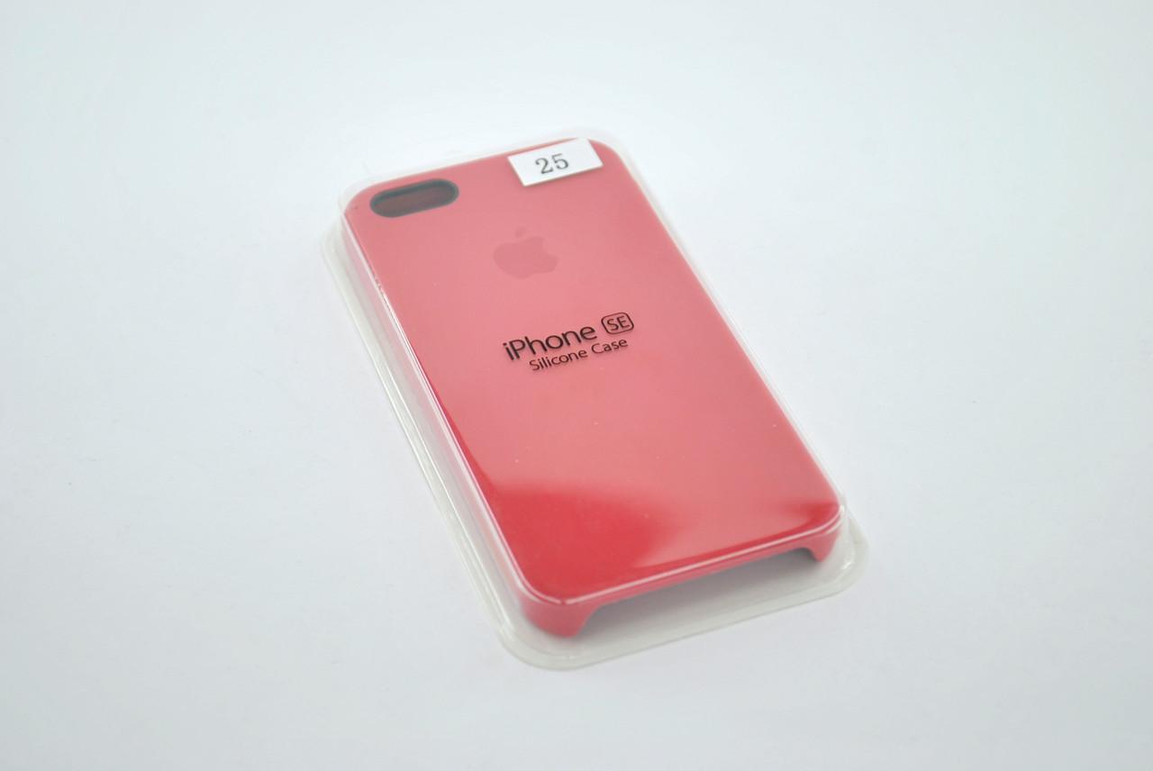 Чехол iPhone 5/5s/SE Silicon Case original camelia