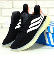 Мужские кроссовки Adidas Sobakov Black Orange. Живое фото. Топ реплика ААА+