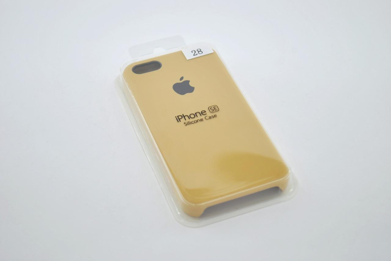 Чехол iPhone 5 /5s/SE Silicone Case original №28 gold