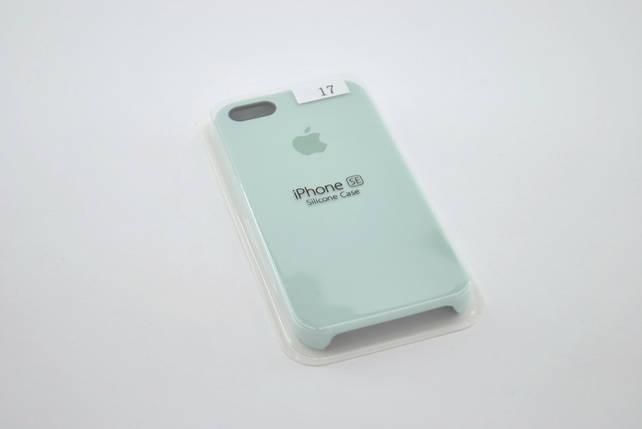 Чехол iPhone 5 /5s/SE Silicone Case original №17 mint gam , фото 2