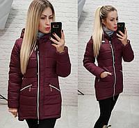 Куртка-парка зимняя, арт. 204, цвет - бордовый