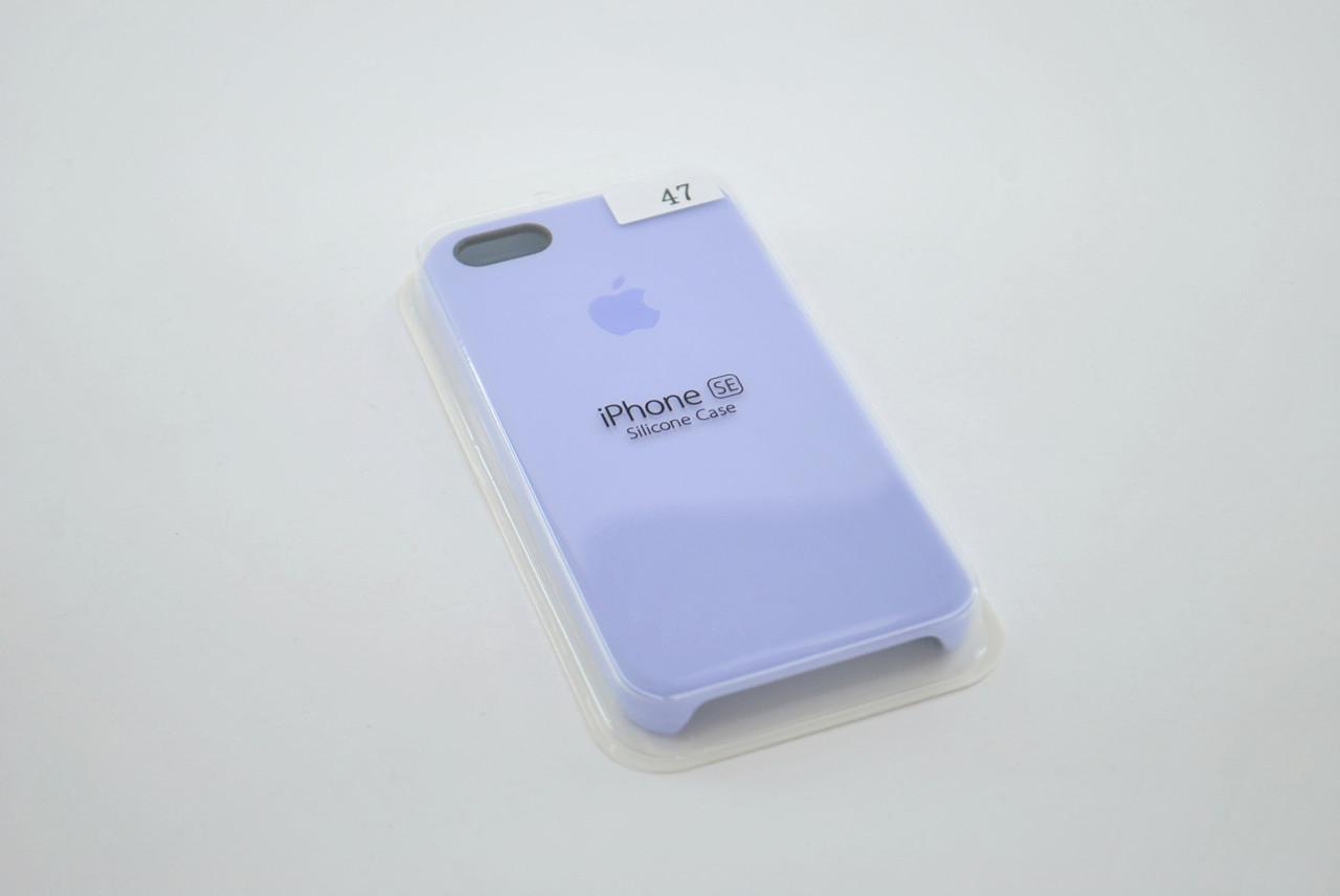 Чехол iPhone 5 /5s/SE Silicone Case original №47 lilac