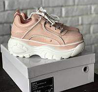 Женские кроссовки Buffalo Pink. Живое фото. Люкс реплика ААА+