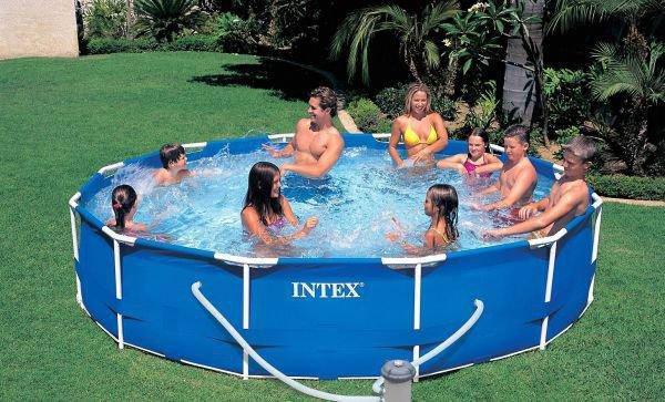Intex Бассейн каркасный 28212 NP фильтр /сеть 220-240 В, 366х76см, 6503л , фото 2