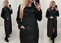 Пальто кашемировое+плащевка, арт.138, цвет - черный