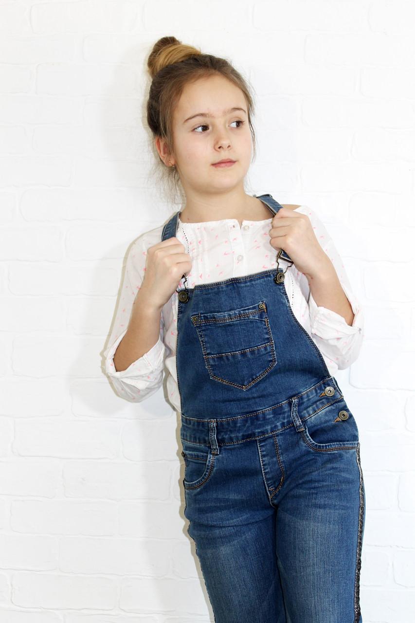 Комбинезон джинсовый для девочек подростков