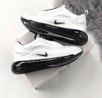Женские кроссовки Air Max 720 white black. Живое фото