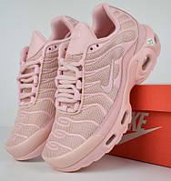 Женские кроссовки Air Max Tn+ plus розовые. Живое фото