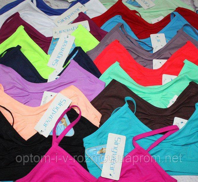 Топики Singwear спортивные  оптом (арт. 104) много цветов