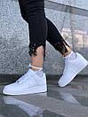 Белые женские кроссовки Nike Air Force из натуральной кожи, фото 2