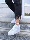 Белые женские кроссовки Nike Air Force из натуральной кожи, фото 4