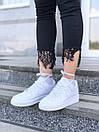 Белые женские кроссовки Nike Air Force из натуральной кожи, фото 5