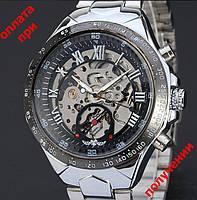 Мужские механические часы скелетон Winner Skeleton с автоподзаводом