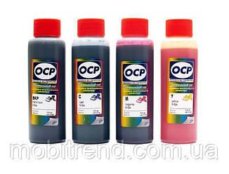 Чернила OCP Epson L серии с черным пигментным, комплект 4x100 мл (BKP 115, CMY 155)