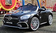 Детский электромобиль Мерседес АМГ Mercedes AMG M 3583 EBLR-2, черный, колеса EVA, кожа, пульт. Разные цвета.