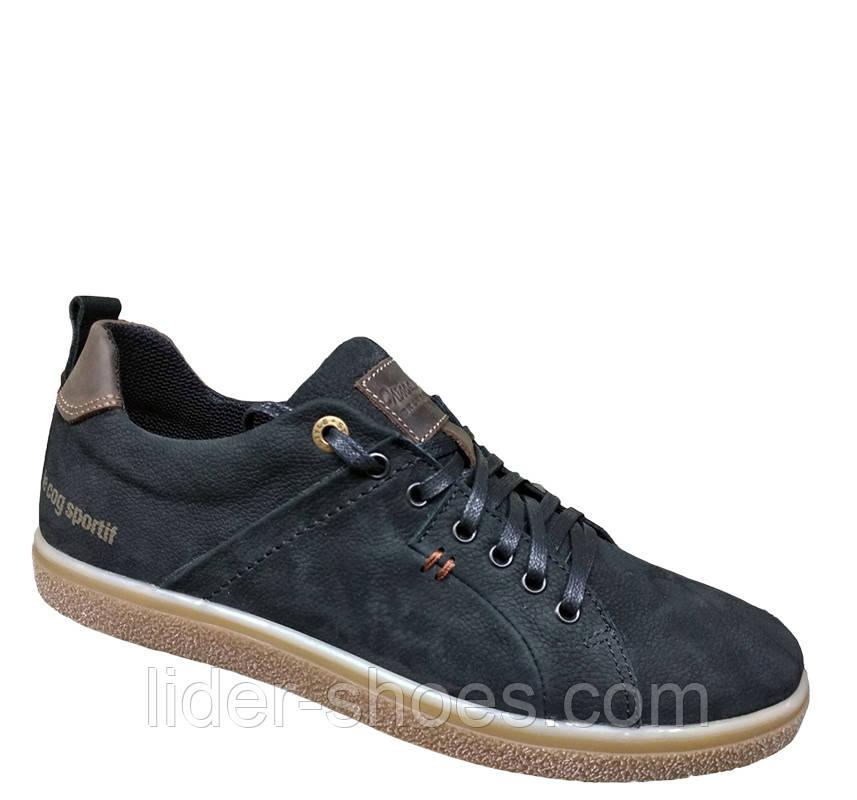 Мужские кроссовки черного цвета нубук