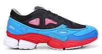 """Кроссовки Adidas X Raf Simons Ozweego 2 """"Black Red Lucora"""" - """"Черные Голубые Красные"""" (Копия ААА+)"""