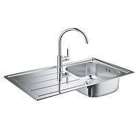Кухонная мойка + смеситель Grohe EX Sink K200 31562SD0 нержавеющая сталь