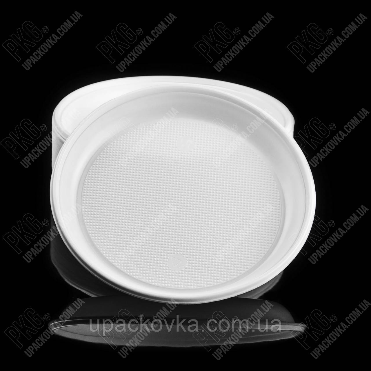 Тарелка десертная d=165мм ПС белая