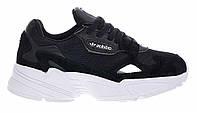 """Кроссовки Adidas Falcon """"Black White"""" - """"Черные Белые"""" (Копия ААА+)"""