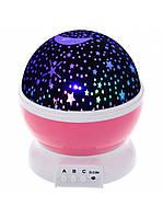 Ночник-проектор Star Master розовый FL029