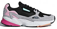 """Кроссовки Adidas Falcon Core Black """"Light Granite"""" - """"Черные Серые Розовые"""" (Копия ААА+)"""
