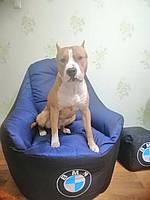 Кресло мешок , кресло Груша, бескаркасный пуф ,BMW,  бескаркасная мебель, ДОСТАВКА