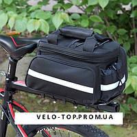"""Велосумка,велосипедная раскладная сумка-штаны """"трансформер"""" на багажник,велобаул,велосумка,велоштаны, фото 1"""