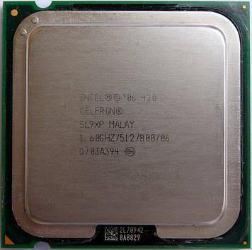 Процессор Intel Celeron 420 1.60GHz/512/800 (SL9XP) s775, tray