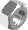 Гайка М10х1.0 шестигранная метрическая с мелким шагом резьбы, сталь, кл. пр. 8, ЦБ (DIN 934) левая резьба